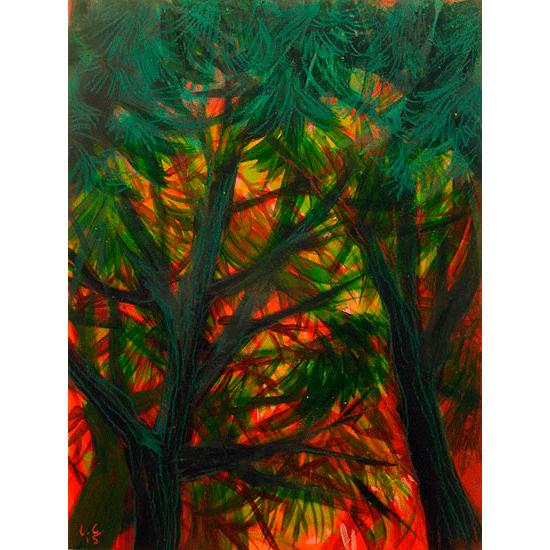 """""""Etude 4"""" - Acrylique sur bois 30 cm x 22 cm"""