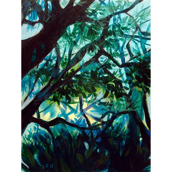 """""""Etude 5"""" - Acrylique sur bois 30 cm x 22 cm"""