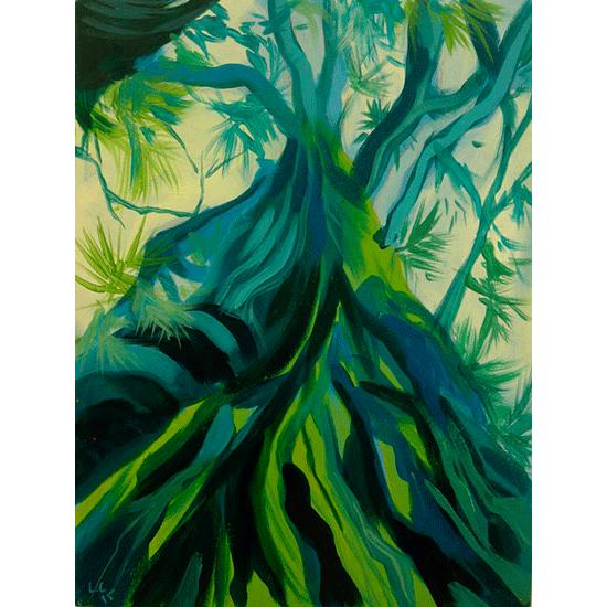 """""""Etude 6"""" - Acrylique sur bois 30 cm x 22 cm"""