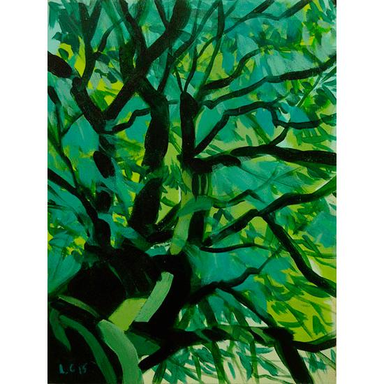 """""""Etude 7"""" - Acrylique sur bois 30 cm x 22 cm"""