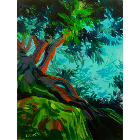 """""""Etude 8"""" - Acrylique sur bois 30 cm x 22 cm"""