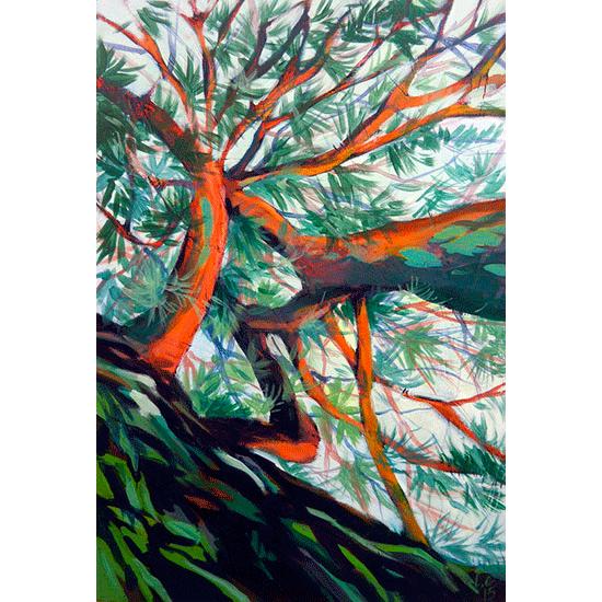 """""""Etude 10"""" - Acrylique sur bois 45 cm x 30 cm"""