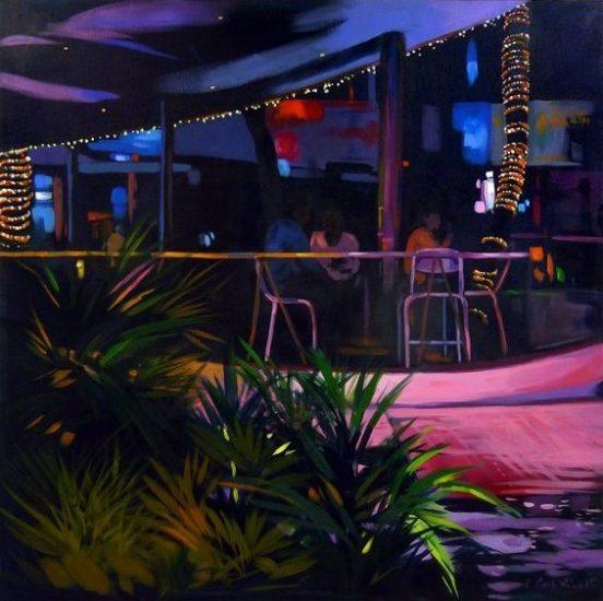 """""""Bar"""" - Acrylique sur toile 100 cm x 100 cm"""