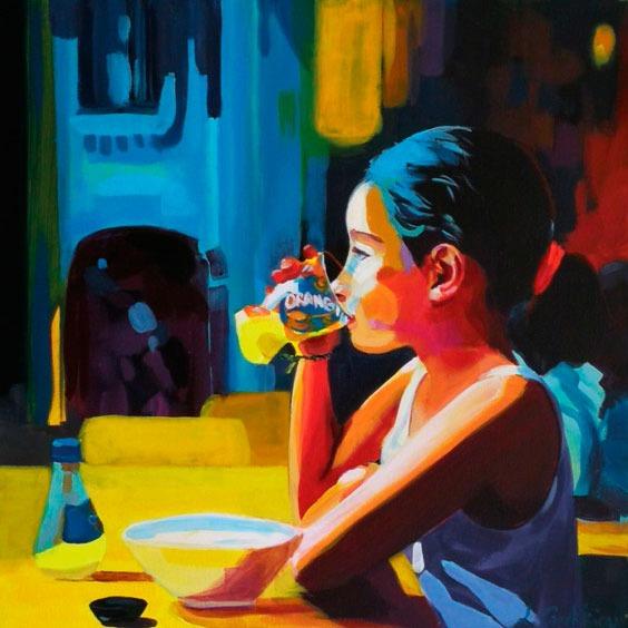 """""""Ella"""" - Acrylique sur toile – 50 cm x 50 cm"""