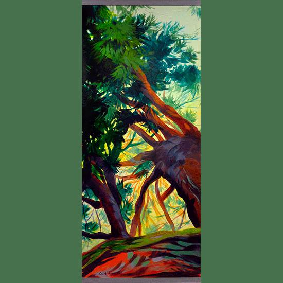 """""""Kakemono"""" - Acrylique sur toile 132 cm x 56 cm"""