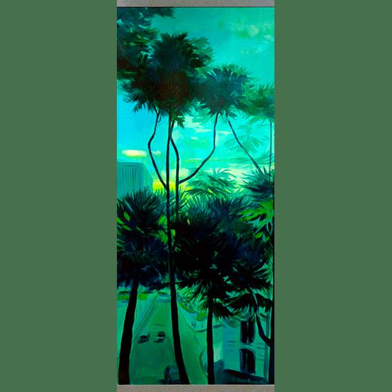 """""""Kakemono 2"""" - Acrylique sur toile 132 cm x 56 cm"""