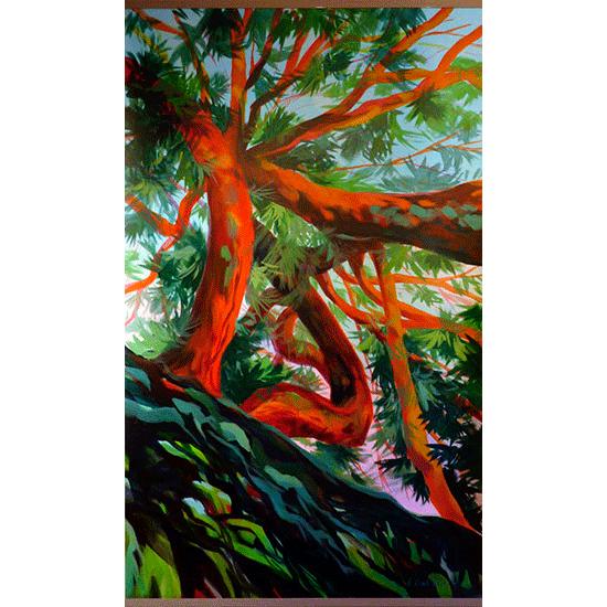"""""""Kakemono 3"""" - Acrylique sur toile 182 cm x 111 cm"""