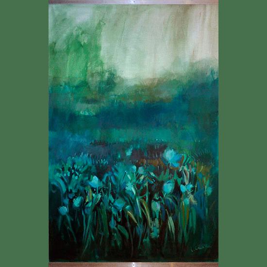 """""""Kakemono 4"""" - Acrylique sur toile 185 cm x 125 cm"""