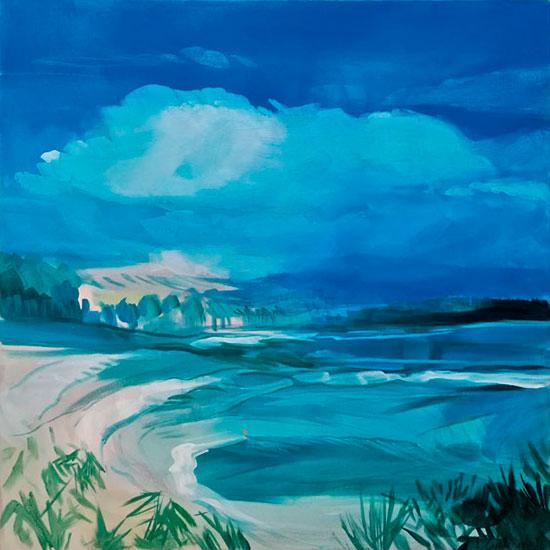 """""""Sea Lanscape"""" - Acrylique sur toile – 80 cm x 80 cm"""