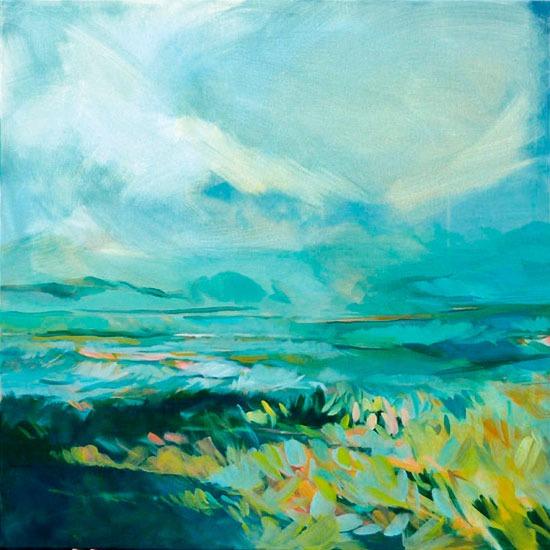 """""""Landscape """" - Acrylique sur toile – 80 cm x 80 cm"""