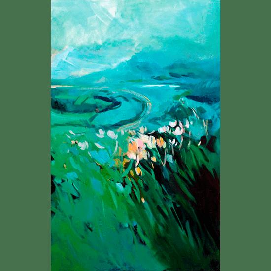 """""""Wind"""" - Acrylique sur toile – 160 cm x 100 cm"""