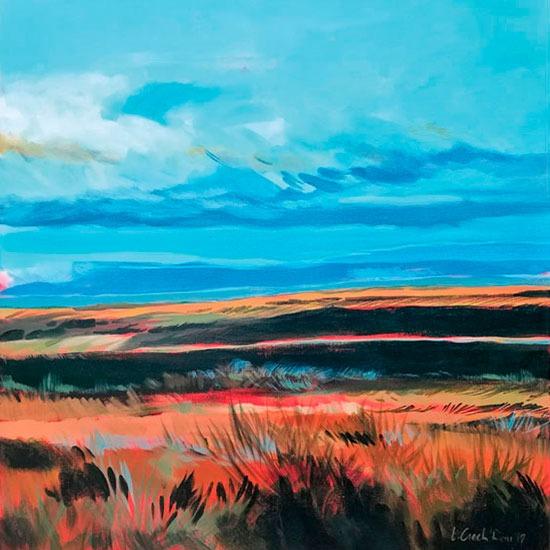 """""""Red Valley"""" - Acrylique sur toile – 80 cm x 80 cm"""