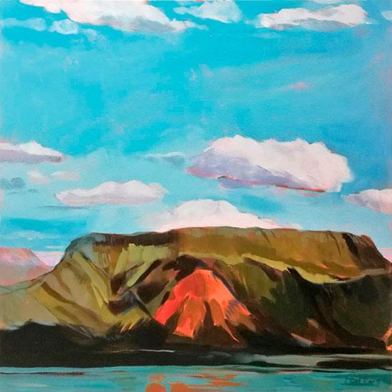 """""""Mountains"""" - Acrylique sur toile – 80 cm x 80 cm"""