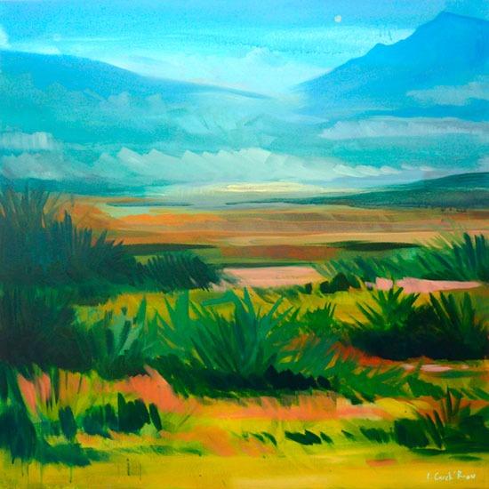 """""""Valley 2"""" - Acrylique sur toile – 100 cm x 100 cm"""