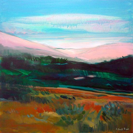 """""""Valley"""" - Acrylique sur toile – 100 cm x 100 cm"""