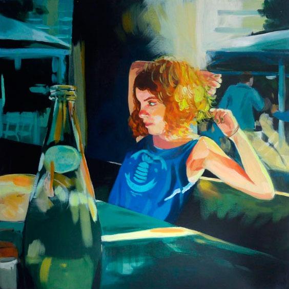 """""""Maé"""" - Acrylique sur toile – 50 cm x 50 cm"""
