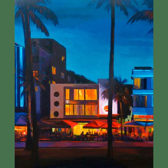 """""""Miami"""" -  Diptyque - Acrylique sur toile 100 cm x 80 cm"""