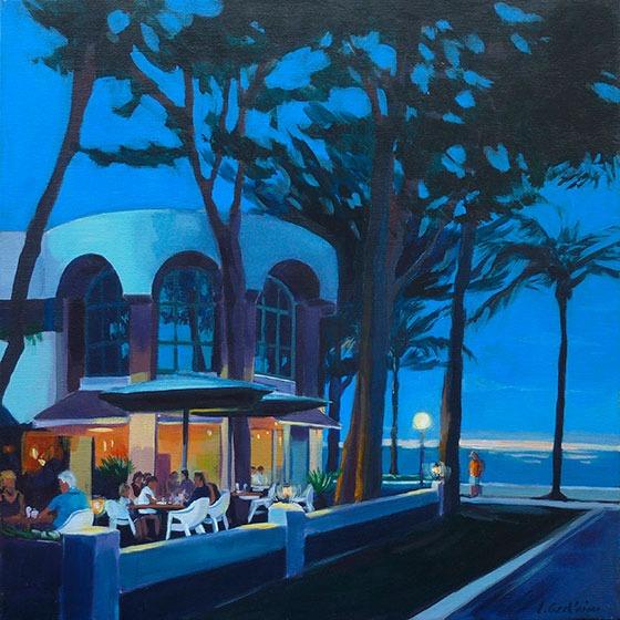 """""""Miami-platja 1 """" - Acrylique sur toile – 50 cm x 50 cm"""