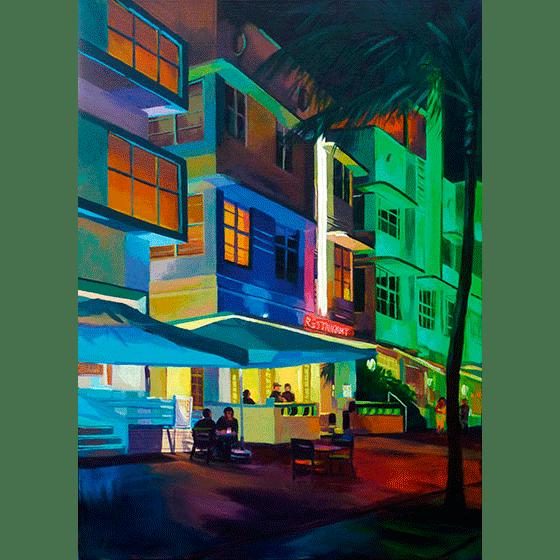 """""""Colored Street"""" - Acrylique sur toile 70 cm x 50 cm"""