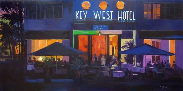 """""""Key West Hotel"""" - Acrylique sur toile – 70 cm x 100 cm"""