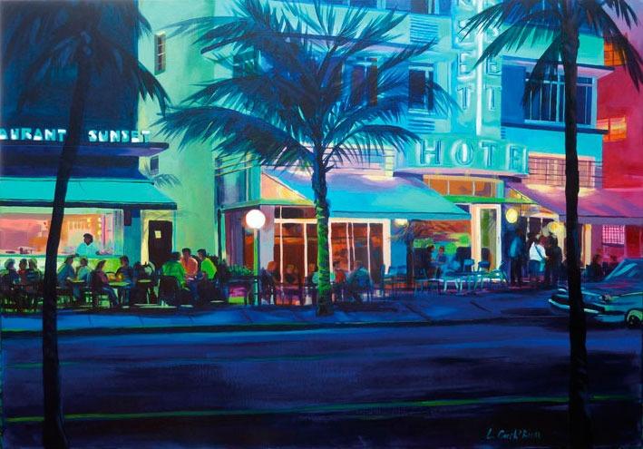 """""""Sunset Boulevard"""" - Acrylique sur toile – 70 cm x 100 cm"""