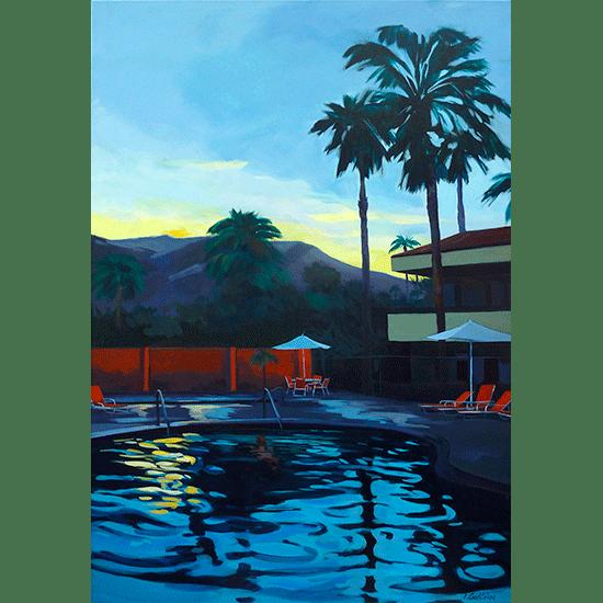 """""""Piscine 11""""- Acrylique sur toile – 50 cm x 50 cm"""