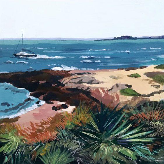 """""""Port-Navalo"""" - Acrylique sur toile 30 cm x 30 cm"""