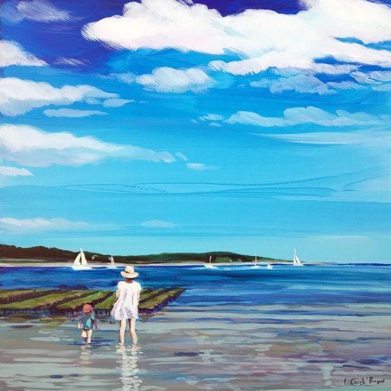 """""""Trinité-sur-Mer"""" - Acrylique sur bois 40 cm x 40 cm"""