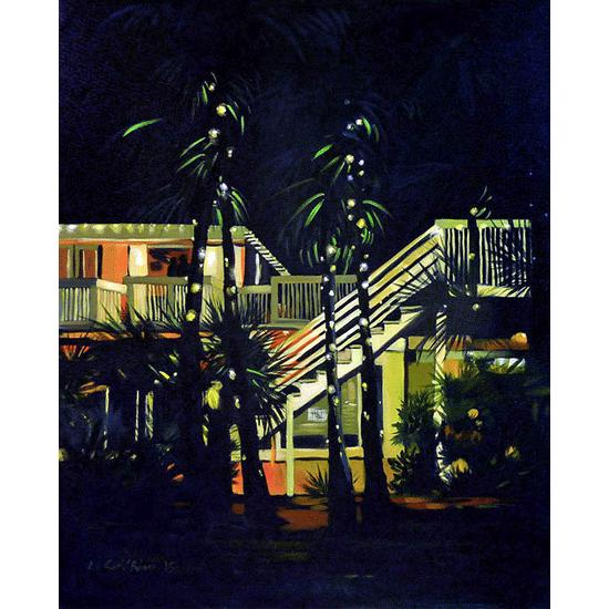 """""""Villa"""" - Acrylique sur toile 100 cm x 80 cm"""